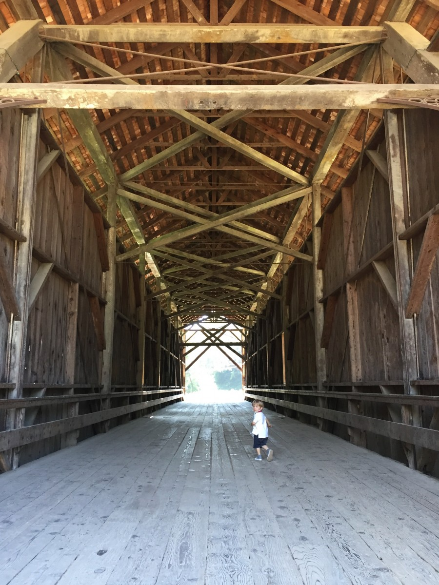 Big bridge small child