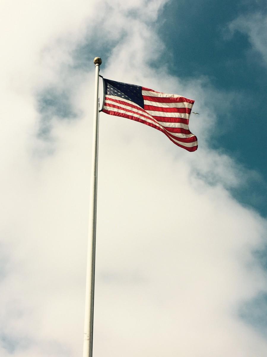 American flags everywhere