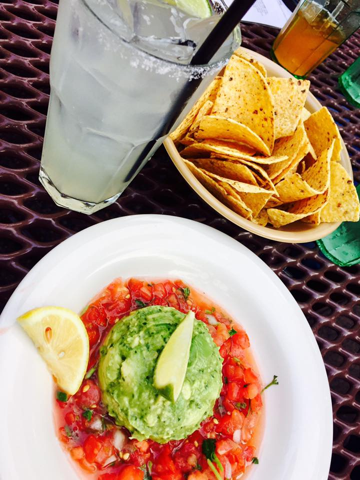 Margarita and guacamole