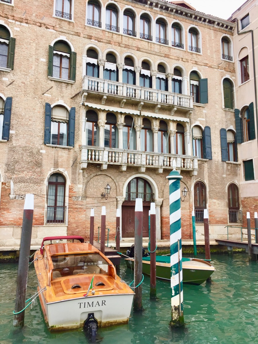 Venice House with boat