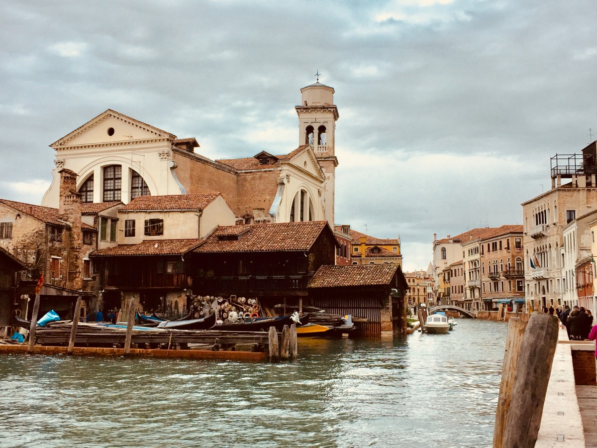 Venice gondola yard